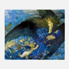 Angel with Putti Throw Blanket