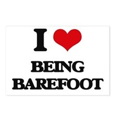 I Love Being Barefoot Postcards (Package of 8)
