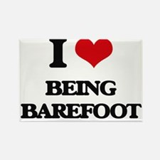 I Love Being Barefoot Magnets