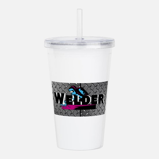 Welder Diamond Plate Acrylic Double-wall Tumbler