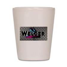 Welder Diamond Plate Shot Glass