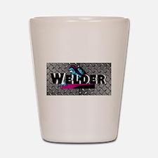Welder Diamond Plate Shot Glass