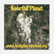 Save the Planet Tile Coaster