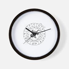 Circle fifths Wall Clock