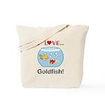 I Love Goldfish Tote Bag