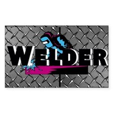 Welder Diamond Plate Decal