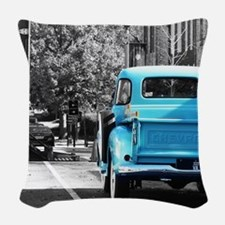 Vintage Chevrolet Truck Woven Throw Pillow