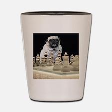 Pug Chess Shot Glass