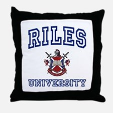 RILES University Throw Pillow