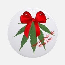 Meet Me Under The Mary Jane Ornament (round)