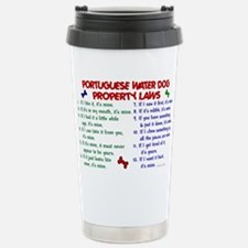 Unique Portuguese water dog Travel Mug