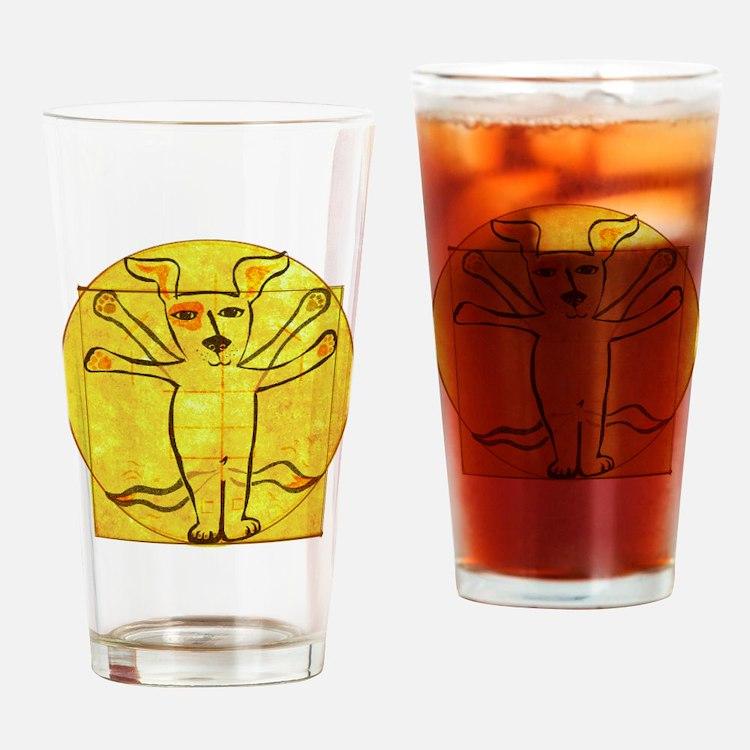 Dog Vinci Drinking Glass