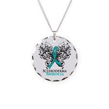 Scleroderma Awareness Necklace Circle Charm