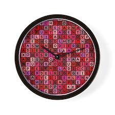 Valentine Jumble Wall Clock