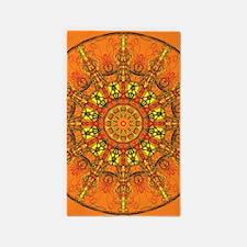Harmony in Orange Area Rug