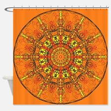 Harmony in Orange Shower Curtain
