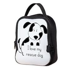 I love my rescue Dog Pet Humor Quote Neoprene Lunc