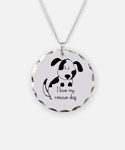 I Love My Rescue Dog Pet Necklace