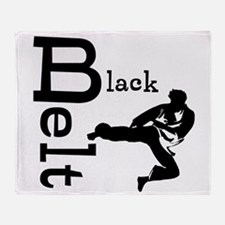 Martial Artist Throw Blanket