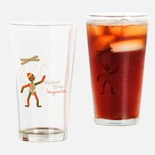 Follow Imagination Drinking Glass