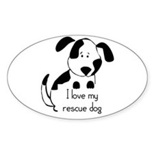I love my rescue Dog Pet Humor Quote Decal