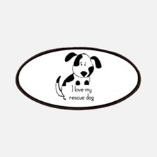 I love my rescue Dog Pet Humor Quote Patches