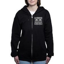 Retro Ugly Christmas Sweater Women's Zip Hoodie