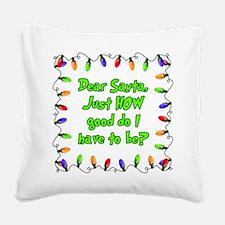 Letter to Santa Square Canvas Pillow