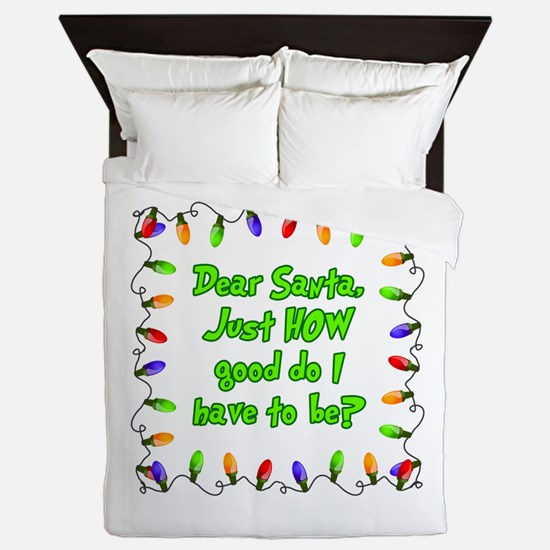 Letter to Santa Queen Duvet