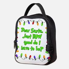Letter to Santa Neoprene Lunch Bag