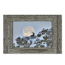 Old window snow buck Postcards (Package of 8)