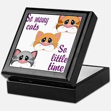 So Many Cats So Little Time Keepsake Box