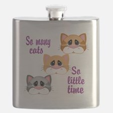 So Many Cats So Little Time Flask