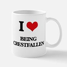 I love Being Crestfallen Mugs