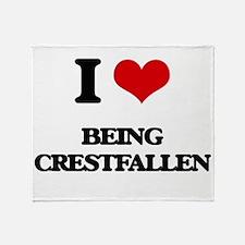 I love Being Crestfallen Throw Blanket