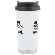 Unique Boss Stainless Steel Travel Mug