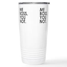 Cute Boss Stainless Steel Travel Mug