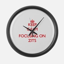 Keep Calm by focusing on Zits Large Wall Clock