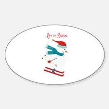 Let it Snow Skiing Decal