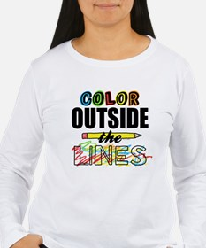 Color Outside The Line T-Shirt