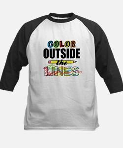 Color Outside The Lines Kids Baseball Jersey