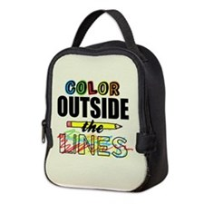 Color Outside The Lines Neoprene Lunch Bag