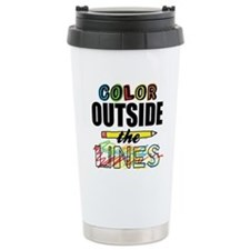 Color Outside The Lines Travel Coffee Mug
