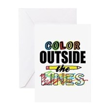 Color Outside The Lines Greeting Card