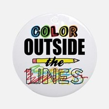Color Outside The Lines Ornament (Round)