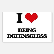 I Love Being Defenseless Decal