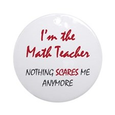 Math Teacher Ornament (Round)