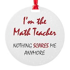 Math Teacher Ornament