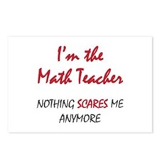 Math Teacher Postcards (Package of 8)