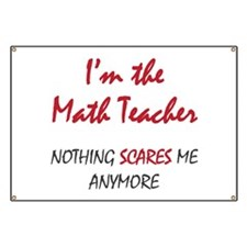 Math Teacher Banner